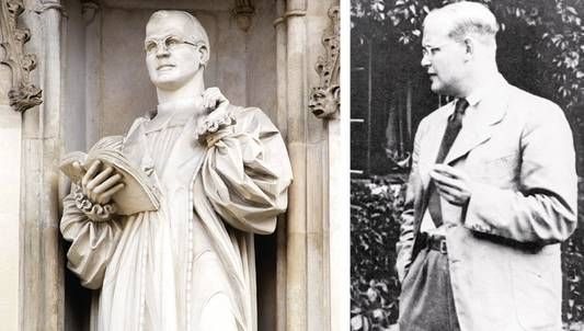 Zweimal Bonhoeffer: Statue an der Westminster-Abbey in London, Fotografie